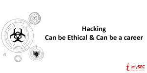 Webinar: Hacking - Can be Ethical and can be a Career